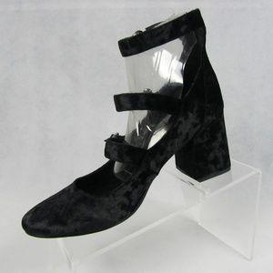 Indigo Rd. Jallen Black Velvet Mary Jane Shoes